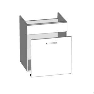 DKS-60/82-S / B dolná skrinka pod drez kuchyne Plate
