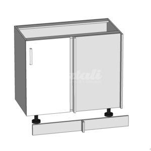 DNW-105/82-P-L rohová dolná skrinka kuchyne Plate