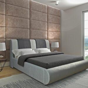Čalúnená manželská posteľ Platinum