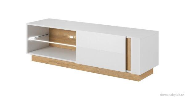 Arco obývacia zostava Biela / Dub Grandson / Biely lesk