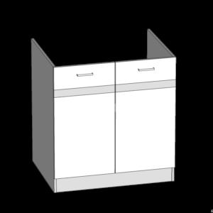 Dolná skrinka 80 drezová kuchyňa Eliza (EZ17 / D80)