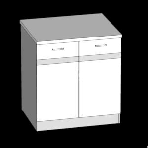 Dolná skrinka 80 kuchyňa Eliza (EZ16 / D80)