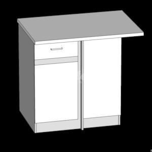 Dolná skrinka rohová LP kuchyňa Eliza (EZ18 / D100NW)