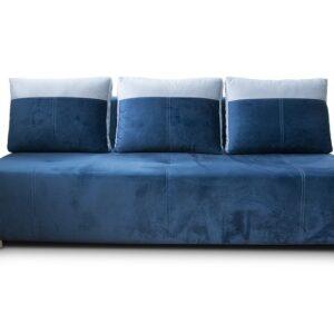 Čalúnená modro-biela pohovka Stela