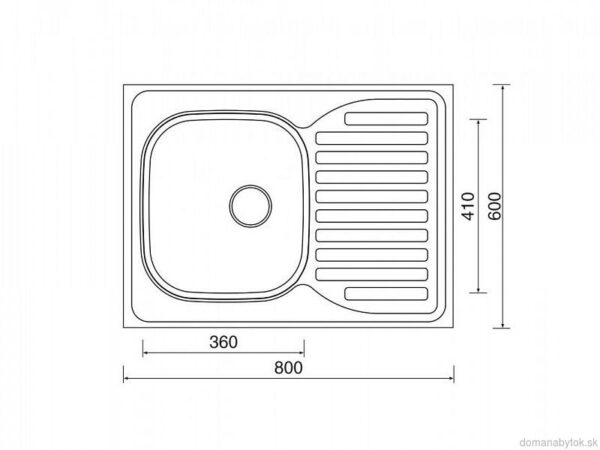 Celoplošný otočný drez Sinks CLP-D 80 x 60 cm