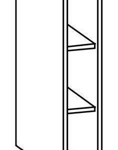 Dolná skrinka l / p 15 tiffany
