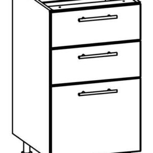 Dolná skrinka so zásuvkami 45 tiffany