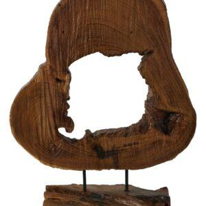 Drevený koreň na podstavci
