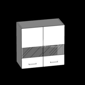 Horná skrinka 60 so sklom kuchyňa Eliza (EZ4 / G60W)