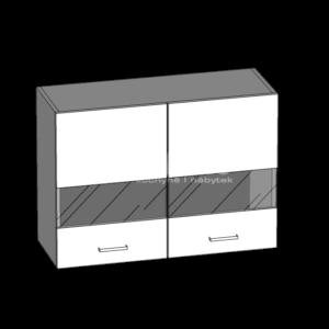 Horná skrinka 80 so sklom kuchyňa Eliza (EZ6 / G80W)