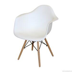 Jedálenská stolička DUO biela
