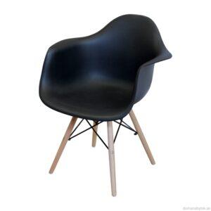 Jedálenská stolička DUO čierna