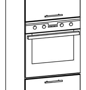 Vstavaná skrinka pre rúru l / p 60 tiffany