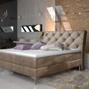Čalúnená manželská posteľ Adel 140x200