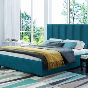 Čalúnená manželská posteľ Hugo