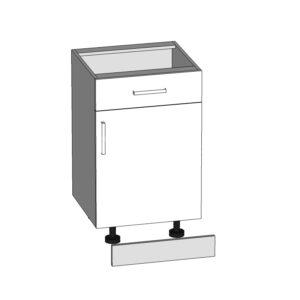 D1S-50/82 dolná skrinka s zásuvkou P / S - L / S kuchyne Plate