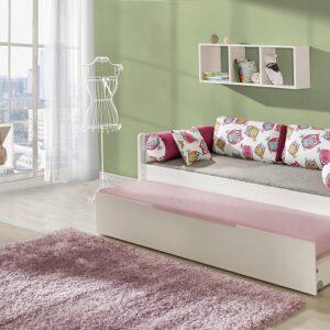 Detská posteľ s prístelkou a úložným priestorom Bambi - masív