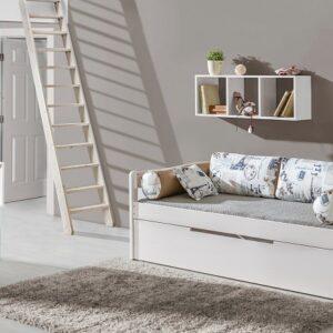 Jednolôžková posteľ s úložným priestorom Bambi 2 - masív
