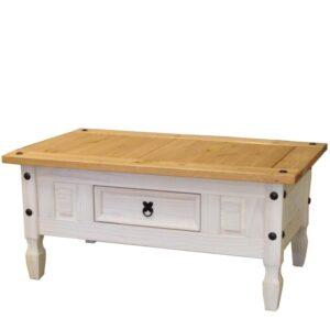 Konferenčný stolík CORONA biely vosk