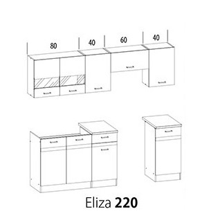Kuchynská linka Eliza 220