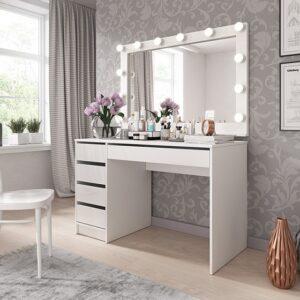 Toaletka + zrkadlo s led osvetlením Ada