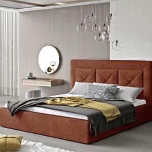 Čalúnená manželská posteľ Clementina 140x200