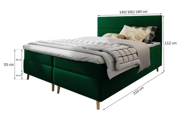Čalúnená posteľ boxspring Santa