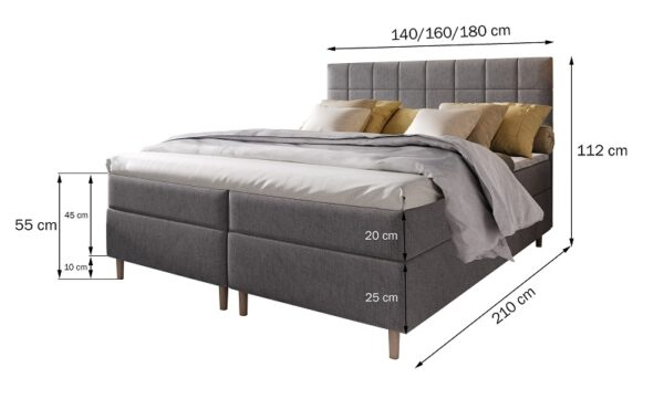 Čalúnená posteľ Ibiza